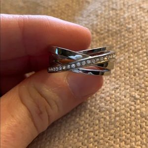 Michael Kors Silver Ring Size 6